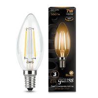 """Лампа светодиодная """"Filament. Свеча"""" 7W 550lm 2700К Е14 LED 1/10/50"""