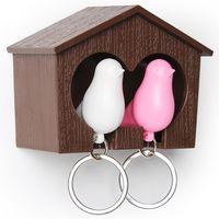 """Брелок-свисток и держатель двойной для ключей """"Sparrow"""" (коричневый/белый/розовый)"""