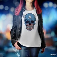 "Футболка женская ""Капитан Америка"" XL (1070)"