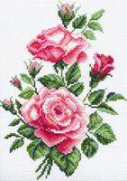 "Канва с нанесенным рисунком ""Розочки"" (арт. 1525)"