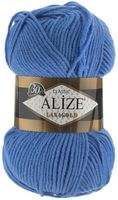 "Пряжа ""ALIZE. Lana Gold №237"" (100 г; 240 м; ярко-голубой)"