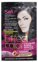 """Крем-краска для волос """"Effect Сolor"""" (тон: 1.1, иссиня-черный)"""
