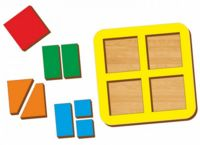 "Рамка-вкладыш ""Сложи квадрат"" (4 квадрата; уровень 1)"