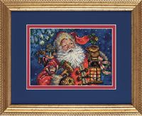 "Вышивка крестом ""Ночной Санта"" (170х120 мм)"