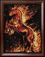 """Алмазная вышивка-мозаика """"Огненный конь"""" (300х400 мм)"""