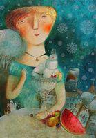 """Магнит на холодильник """"Мороженое с фруктами"""" (арт. 11.20)"""