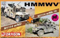 """Набор миниатюр """"M1114 Up Armor w/M2 & M1114 Up Armor w/Mk.19 Twin Pack"""" (масштаб: 1/72)"""