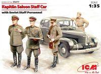 """Штабная машина """"Капитан"""" седан с советским штабным персоналом (масштаб: 1/35)"""