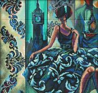 """Вышивка крестом """"Эффектные женщины в роскошных местах. Лондон"""""""