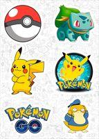 "Набор виниловых наклеек №588 ""Pokemon"""