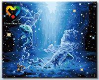 """Картина по номерам """"Рыбы"""" (400x500 мм; с люминесцентной краской; арт. YH4050012)"""