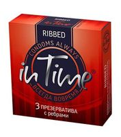 """Презервативы """"In Time. Ribbed"""" (3 шт.)"""