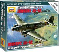 """Сборная модель """"Немецкий транспортный самолет Ju-52 """"Юнкерс"""" 1932-45"""" (масштаб: 1/200)"""