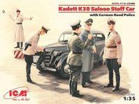 Kadett K38 седан, с Германской дорожной полицией (масштаб: 1/35)