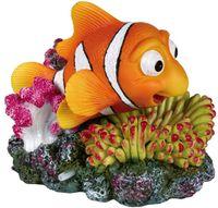 """Декорация для аквариума с воздухоотводом """"Рыба и коралл"""" (12 см)"""