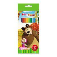 """Цветные карандаши """"Маша и Медведь"""" (24 цвета)"""