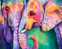 """Алмазная вышивка-мозаика """"Мудрость слонов"""""""