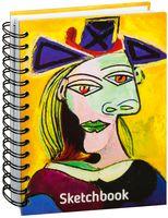 """Скетчбук """"Пикассо. Голова женщины в голубой шляпе"""" (А5)"""