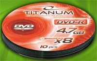 Диск DVD-R 4.7Gb 8x Esperanza Titanum Bulk 10
