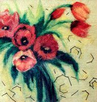 """Картина из шерсти """"Символ весны"""""""
