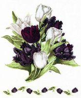 """Вышивка крестом """"Тюльпаны"""" (290х350 мм)"""