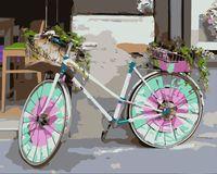 """Картина по номерам """"Велосипед для дамы"""" (400x500 мм)"""