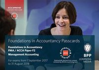 FIA Foundations in Management Accounting FMA (ACCA F2). Passcards
