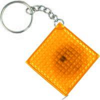 Брелок-рулетка из светоотражающего материала (желтый, 1 метр)
