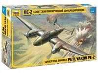 Советский пикирующий бомбардировщик ПЕ-2 (масштаб: 1/48)