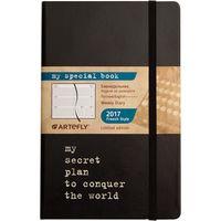 """Еженедельник датированный """"My Special Book. My Secret"""" 2017 (большой; твердая черная обложка)"""