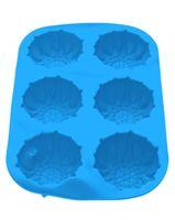 Форма силиконовая для выпекания кексов (275x180x30 мм; голубая)