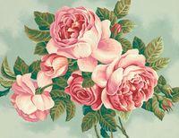 """Картина по номерам """"Старинные розы"""" (280х380 мм; арт. 91299-DMS)"""