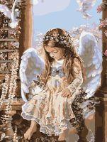 """Картина по номерам """"Юный ангелок"""" (400х500 мм)"""