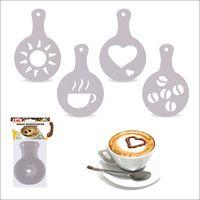 Набор трафаретов для кофе (4 шт.; арт. J11-93)