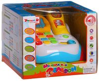 "Развивающая игрушка ""Телефон-каталка"" (с обучающими карточками; арт. Б62560)"
