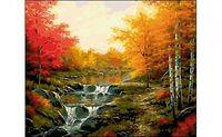 """Картина по номерам """"Осенний водопад"""" (400x500 мм)"""