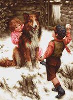 "Вышивка крестом ""Игра в снежки"" (310х425 мм)"