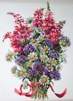 """Вышивка крестом """"Полевые цветы"""" (280х200 мм)"""