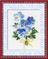 """Вышивка крестом """"Анютины глазки"""" (10 цветов, арт. 792)"""