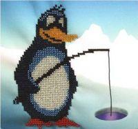 "Вышивка бисером ""Пингвин"" (200х200 мм)"