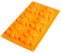 Форма для выпекания силиконовая (305x180x20 мм; персиковая)
