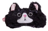 """Маска для сна """"Curious cat"""" (черная)"""