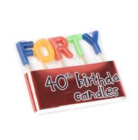"""Набор свечей для торта """"Forty"""" (5 шт.; 3 см)"""