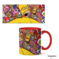 """Кружка """"Симпсоны"""" (арт. 411, красная)"""