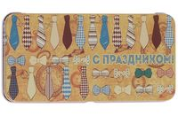 """Подарочная коробочка для денег """"Галстуки и бабочки"""" (арт. 43672)"""
