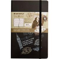 """Еженедельник датированный """"PostCard. London"""" 2017 (большой; твердая черная обложка)"""