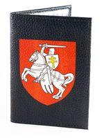 """Обложка на паспорт """"Пагоня"""" (черная; арт. K016)"""