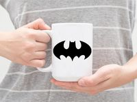 """Кружка большая белая """"Бэтмен"""" (арт. 534)"""