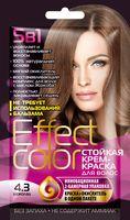 """Крем-краска для волос """"Effect Сolor"""" (тон: 4.3, шоколад)"""