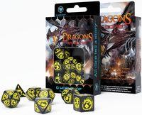 """Набор кубиков """"Dragon"""" (7 шт.; черно-желтый)"""